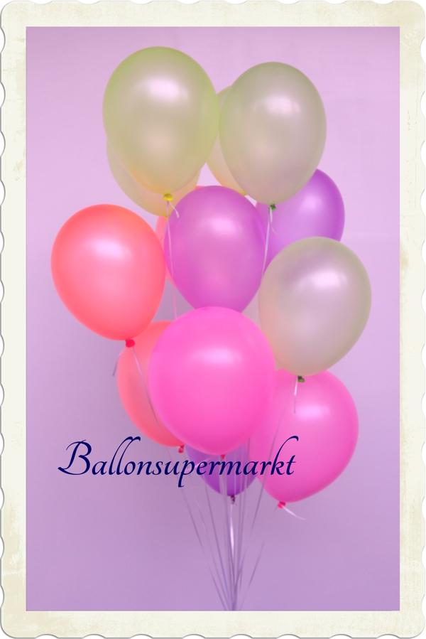 Neonfarben Luftballons
